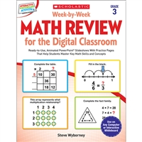 Week By Week Gr 3 Math Review For The Digital Clas, SC-577340