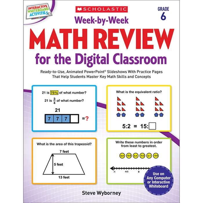 Week By Week Gr 6 Math Review For The Digital Clas, SC-577344