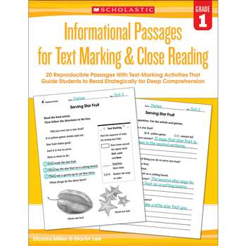 Gr 1 Informational Passages For Text Marking & Clo, SC-579377