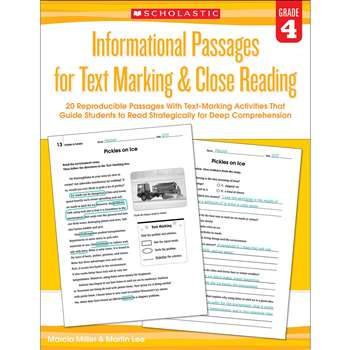 Gr 4 Informational Passages For Text Marking & Clo, SC-579380