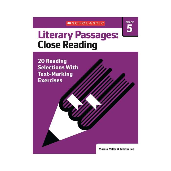 Literary Passages Close Reading Gr5, SC-579388