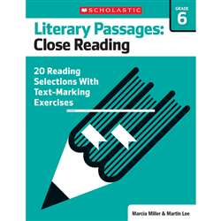 Literary Passages Close Reading Gr6, SC-579389