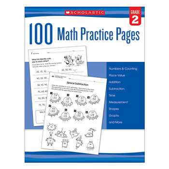 101 Math Practice Pages Gr 2, SC-579938