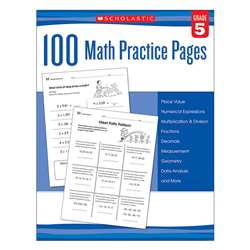 104 Math Practice Pages Gr 5, SC-579941
