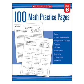 105 Math Practice Pages Gr 6, SC-579942