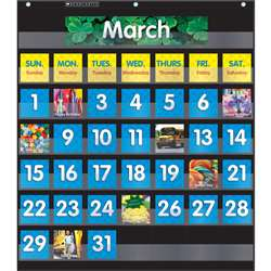 Pocket Chart Monthly Calendar Black, SC-583866