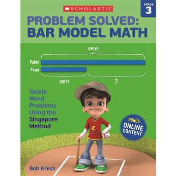 Problem Solved Bar Model Math Gr 3, SC-584011