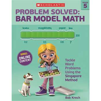 Problem Solved Bar Model Math Gr 5, SC-584013