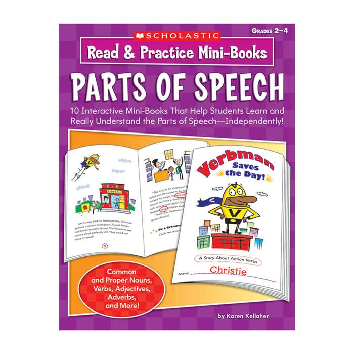 Read & Practice Mini-Books Parts Of Speech By Scholastic Books Trade