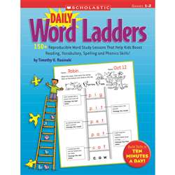 Daily Word Ladders: Grade 1-2 By Scholastic Books Trade