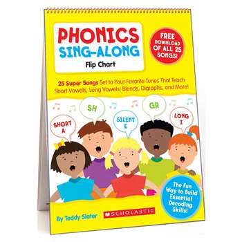 Phonics Sing-Along Flip Chart & Cd Gr K-2 By Scholastic Books Trade