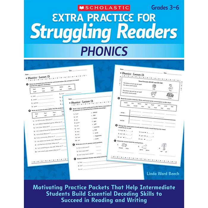 Extra Practice For Struggling Readers Phonics By Scholastic Books Trade