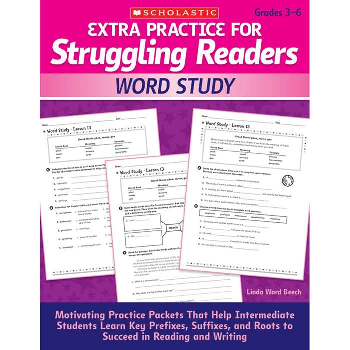 Extra Practice For Struggling Readers Word Study By Scholastic Books Trade