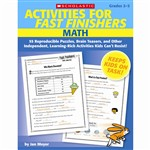 Activities For Fast Finishers Math By Scholastic Books Trade