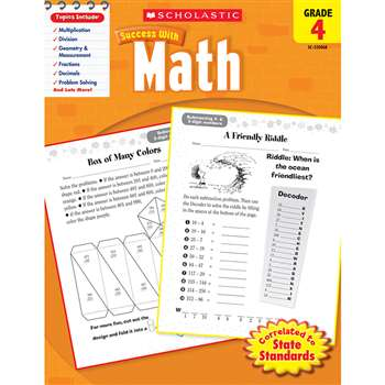 Scholastic Success With Math Gr 4 By Scholastic Books Trade