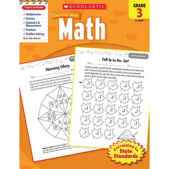 Scholastic Success With Math Gr 3 By Scholastic Books Trade