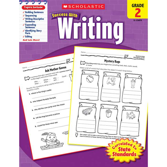 Scholastic Success Writing Gr 2 By Scholastic Books Trade