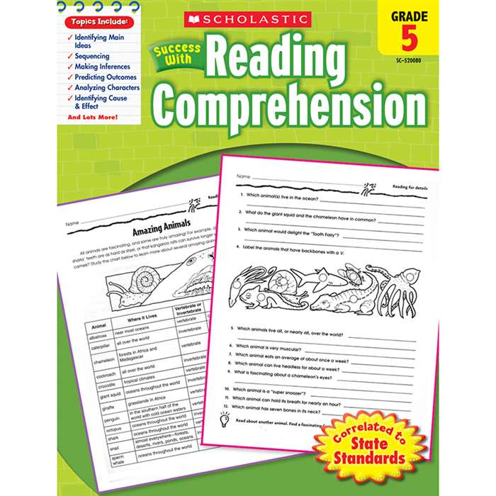 Scholastic Success With Reading Comprehension Gr 5 By Scholastic Books Trade