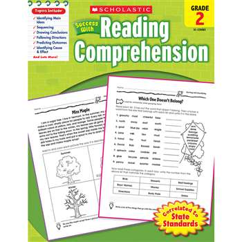 Scholastic Success With Reading Comprehension Gr 2 By Scholastic Books Trade