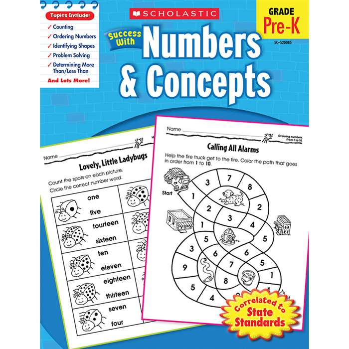 Scholastic Success With Numbers & Concepts By Scholastic Books Trade
