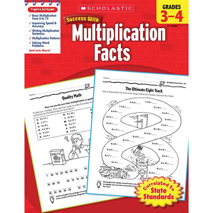 Scholastic Success Multiplication Facts Gr 3-4 By Scholastic Books Trade