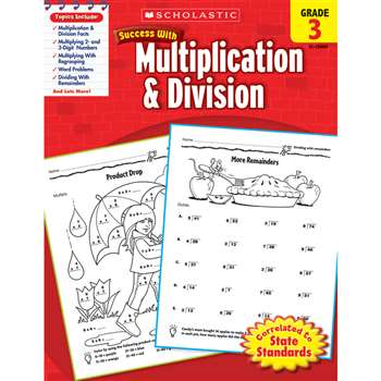 Scholastic Success Multiplication & Division Gr 3 By Scholastic Books Trade