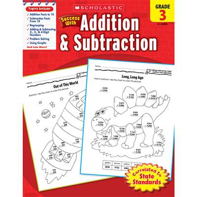 Scholastic Success With Addition & Subtraction Gr 3 By Scholastic Books Trade