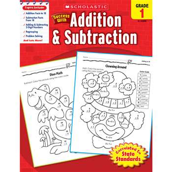 Scholastic Success With Addition & Subtraction Gr 1 By Scholastic Books Trade