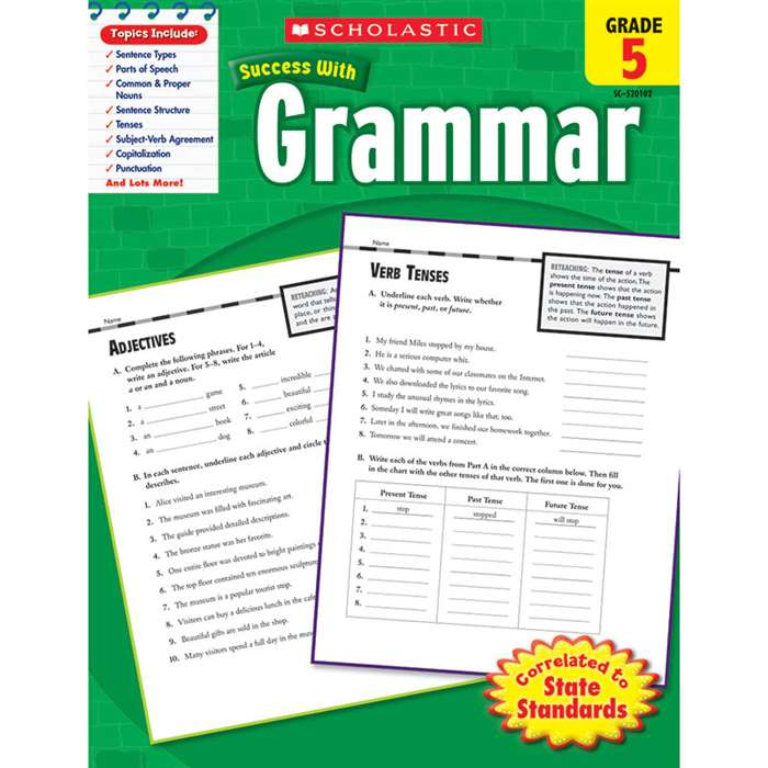 Scholastic Success Grammar Gr 5 By Scholastic Books Trade