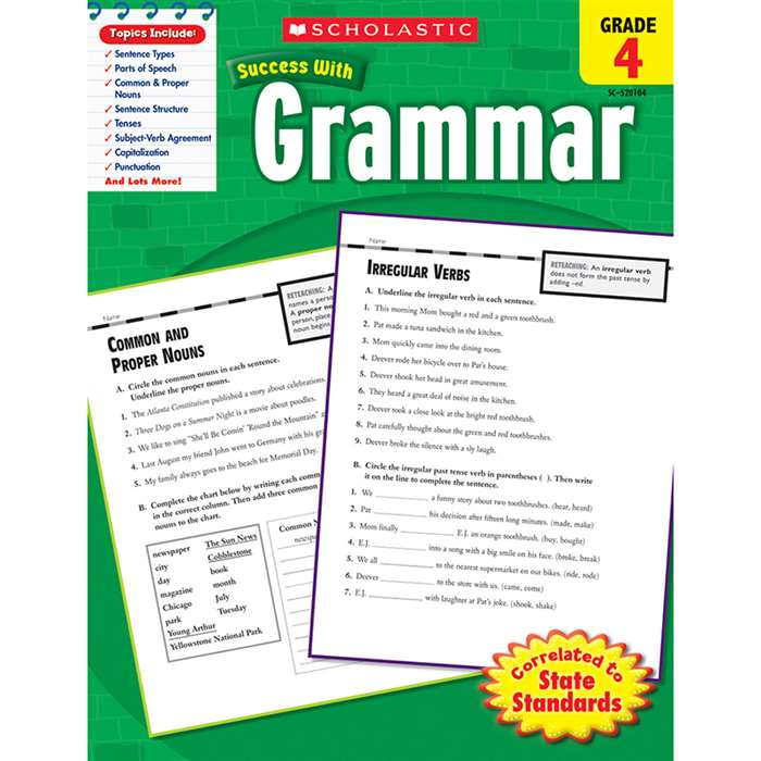 Scholastic Success Grammar Gr 4 By Scholastic Books Trade