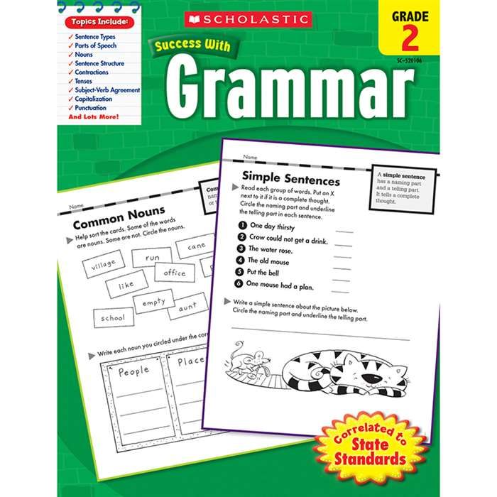 Scholastic Success Grammar Gr 2 By Scholastic Books Trade
