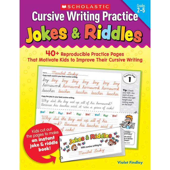 Cursive Writing Practice Jokes & Riddles By Scholastic Books Trade