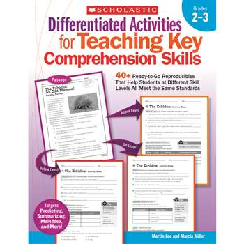 Differentiated Activities Teaching Key Comprehension Skills Gr 2-3 By Scholastic Books Trade