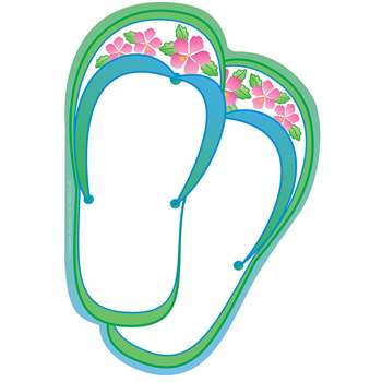 Creative Shapes Notepad Flip Flops Large By Creative Shapes Etc