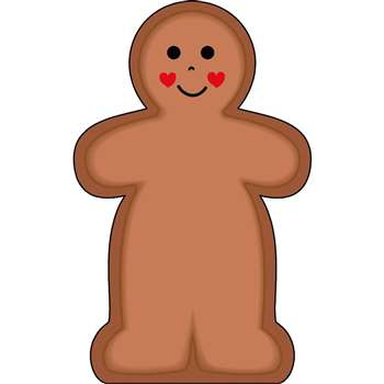 Notepad Large Gingerbread Man By Shapes Etc
