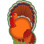Notepad Large Turkey By Shapes Etc
