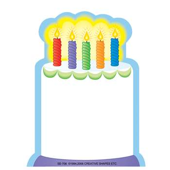Notepad Mini White Cake 35 Sht 3X3 By Shapes Etc