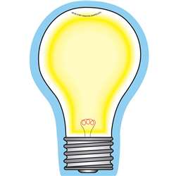 Creative Shapes Notepad Light Bulb Large By Creative Shapes Etc