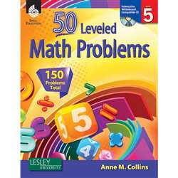 54 Leveled Math Problems Level 5 W/ Cd By Shell Education