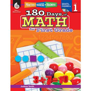 180 Days Of Math Gr 1 By Shell Education