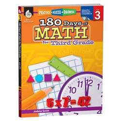 180 Days Of Math Gr 3 By Shell Education