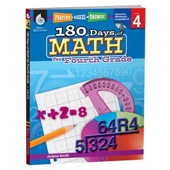 180 Days Of Math Gr 4 By Shell Education