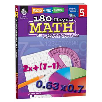 180 Days Of Math Gr 5 By Shell Education
