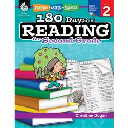 180 Days Of Reading Book For Second Grade By Shell Education