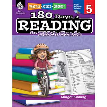 180 Days Of Reading Book For Fifth Grade By Shell Education