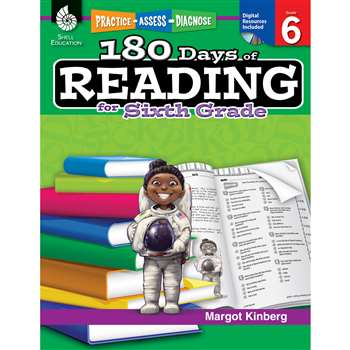 180 Days Of Reading Book For Sixth Grade By Shell Education