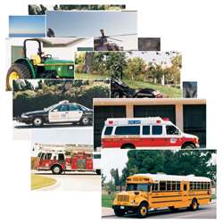 Vehicles 14 Poster Cards By Stages Learning Materials