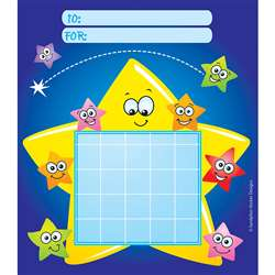 Incentive Chart Pad Stars W/ Faces By Silver Lead / Sandylion Products