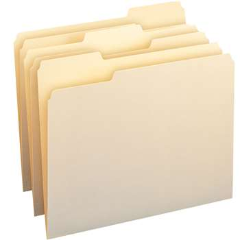 Smead Letter Size File Folders Mani Manila Box Of , SMD10330