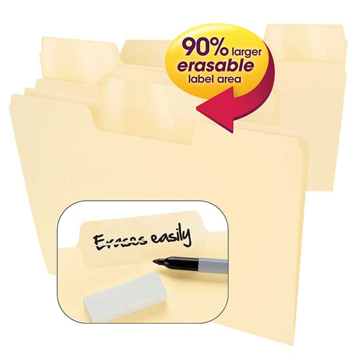Smead Erasable Supertab 24Pk Letter Size Folders M, SMD10380